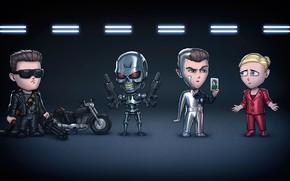 Picture Art, Terminator, Concept Art, Characters, ANDREY GORKOVENKO, by ANDREY GORKOVENKO, Chibi Characters, Terminators, Terminators