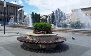 Picture landscape, fountain, Deva