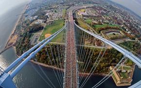 Picture bridge, New York, panorama, USA, Verrazano-Narrows