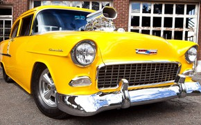 Picture Chevrolet, Bel Air, Yellow, Modified