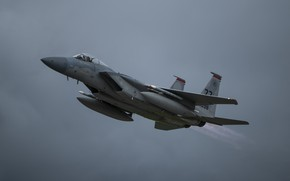 Picture UNITED STATES AIR FORCE, the fourth generation fighter, F-15C, American all-weather, superiority in the air, …