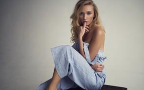 Picture look, girl, pose, background, portrait, Michael Bazaars