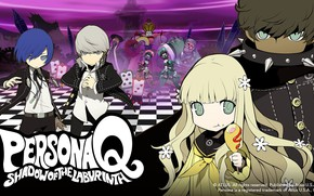 Picture the game, anime, art, characters, Person, Persona Q