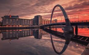 Picture Glasgow, Scottish, Hilton Garden Inn, Squinty Bridge, River Clyde