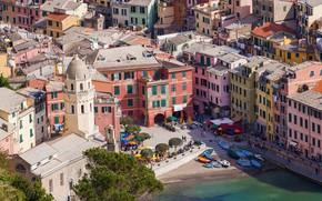 Picture sea, home, Italy, Vernazza, Cinque Terre, National park of the Cinque Terre
