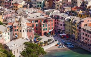 Picture sea, home, Italy, Vernazza, Cinque Terre, National park of the Cinque Terre