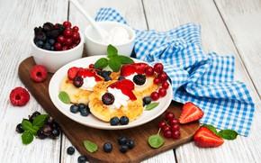 Picture berries, Breakfast, cheesecakes, Olena Rudo