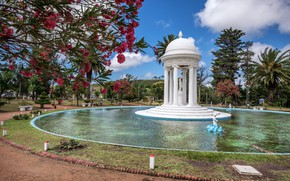 Picture trees, Park, fountain, Uruguay, Uruguay, Fountain of Venus, Piriapolis, Fountain Of Venus, Piriápolis