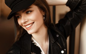 Picture look, girl, smile, jacket, Lisa, Ivan Proskurin