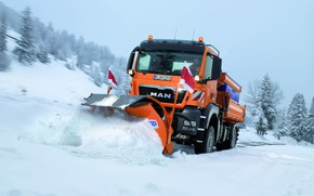 Picture winter, snow, MAN Truck & Bus, TGS 18.360, road service