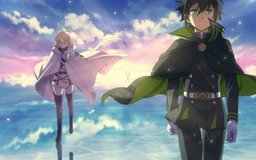 Picture anime, art, guys, Mika, Owari no Seraph, the last Seraphim, Yuichiro