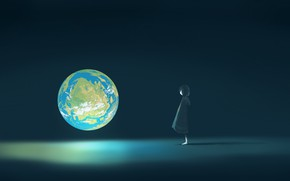 Picture fiction, Earth, girl