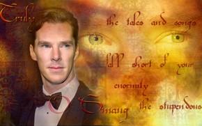 Picture letters, background, Benedict Cumberbatch, Benedict Cumberbatch, by geepor