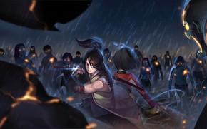 Picture field, anime, robots, art, guy, the battle, Koutetsujou no Kabaneri, Cabanero iron fortress