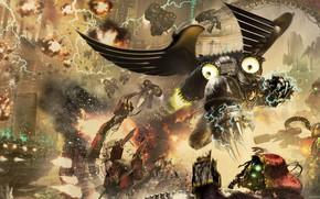 Picture Horus Heresy, Warhammer 40 000, Raven Guard, primarch, tech priest, Adeptus Mechanicus, Corvus Corax