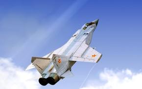 Wallpaper Fighter, by ABiator, Air force Kazakhstan, Alexander Iartsev, Art, MiG-31B, The MiG-31, Foxhound, MiG-31, Interceptor, ...