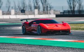 Picture machine, asphalt, movement, turn, Ferrari, sports car, track, P80/C