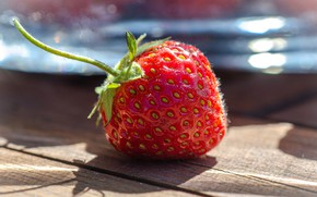 Picture light, table, Board, strawberry, strawberry, berry, red, one, juicy, composition, Victoria