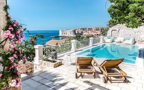 Picture Villa, pool, terrace, Croatia, Dubrovnik, Dubrovnik, luxury Villa Beba