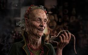 Picture smile, the old man, rat, terrible, nasty, Ruengsak Muengjaidee