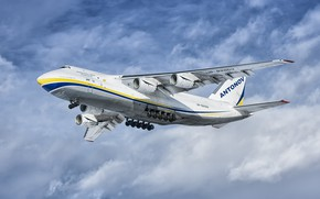 Picture The plane, Ukraine, Landing, An-124, Ruslan, Chassis, An-124-100, ANTK imeni O. K. Antonova, Military transport …
