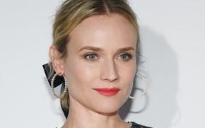 Picture look, girl, face, portrait, actress, blonde, Diane Kruger, Diane Kruger, hair