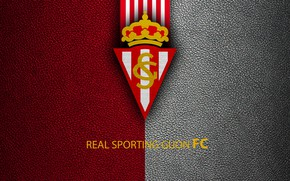 Picture wallpaper, sport, logo, football, La Liga, Real Sporting Gijon