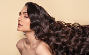 Picture girl, pose, photo, background, hair, makeup, curls, Pagani Ali