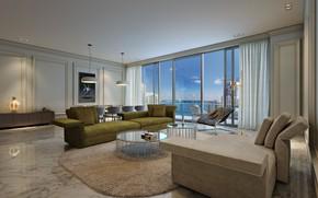 Picture interior, Miami, living room, Luxury in Brickell