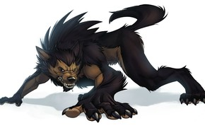 Picture background, wolf, fantasy, art, beast, werewolf, lycanthrope, wolf, werewolf, beast, werewolf