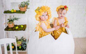 Picture children, holiday, egg, Easter, costumes