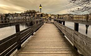 Picture bridge, Austria, Lantern, Castle Place, Step