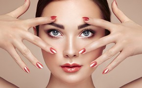 Picture look, girl, face, photo, model, hands, makeup, manicure, Oleg Gekman