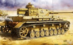 Picture Germany, tank, jason, the Wehrmacht, average, Pz.Kpfw.IV, panzerwaffe, DAK, Pz.Kpfw.IV Ausf.F2, Afrika Korps, Pz.Kpfw.IV Ausf.G