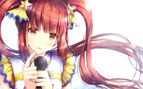 Picture girl, microphone, idol