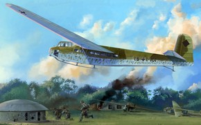 Picture DFS 230, the Belgian Fort, Luftwaffe transport glider, Eben-Emal