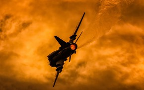 Picture Sunset, The fast and the furious, Fighter-bomber, Su-22, Sukhoi Su-22M4, Polish air force, Su-22M4