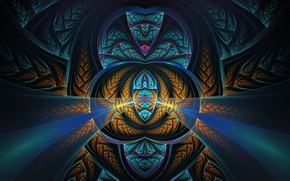 Wallpaper pattern, dark, beautiful