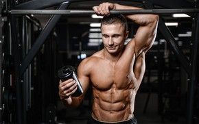 Picture pose, figure, muscle, muscle, muscles, press, athlete, Bodybuilding, bodybuilder, abs, weight, bodybuilder, gym