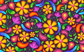 Picture flowers, background, patterns, graphics, texture