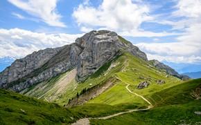 Picture Nature, Mountains, Rocks, Alps, Trail, Landscape, Top