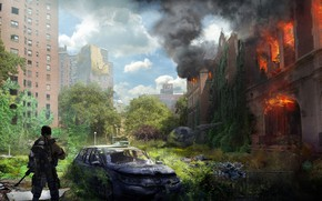 Picture machine, the city, soldiers, devastation, ruins, Tom Clancy's The Division 2, agnone