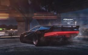 Wallpaper Auto, Machine, Art, Fanart, Cyberpunk 2077, Cyberpunk, Game Art, Matte Painting, 2077, Based on screenshot ...