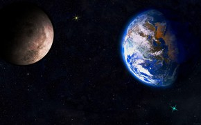Picture space, planet, satellite