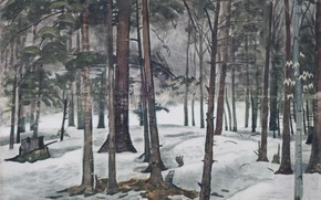 Picture 1936, Charles Ephraim Burchfield, Snow Light