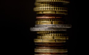 Picture macro, background, coins