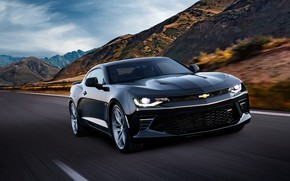 Picture Chevrolet, Camaro, Camaro SS, front view, 2018