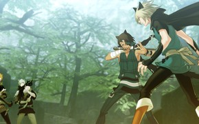 Picture the game, anime, art, guys, characters, Lamento