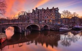 Picture bridge, river, home, Amsterdam, Netherlands