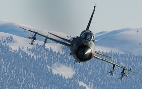 Picture Winter, Mountains, MiG-21bis